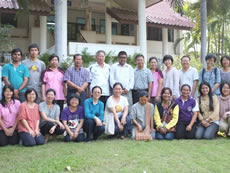 PCD adopts a programme of Ecovillage Design Education (EDE) which has been developed throughout a worldwide environmental movement to train our community facilitators. This is a group photo of PCD staff and partners at the EDE training in Thailand.